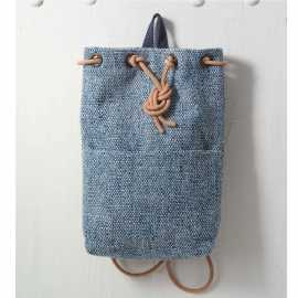 Blue Tweed Backbag
