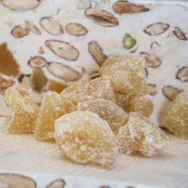 Soft white nougat from Provence with ginger