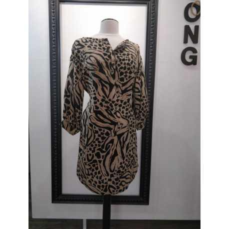 Robe en soie imprimé léopard - 36 / 44 taille FR