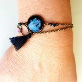 Bracelet double - Fleur nocturne 1