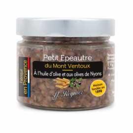 Petit épeautre du Mont Ventoux à l'huile d'olive et aux olives Nyons