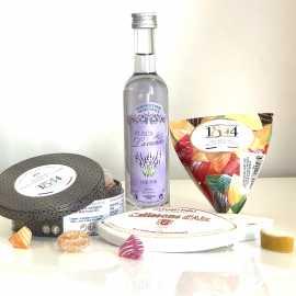 Colis cadeau gourmandises et liqueur