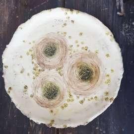 Plates with original decorations