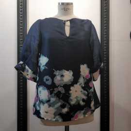 Blouse silk and Korean fabric with floral print