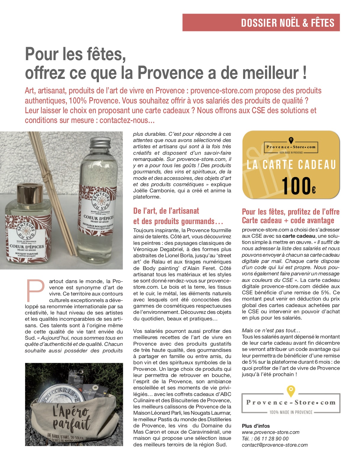 provence-store.com - article InfluenceCE