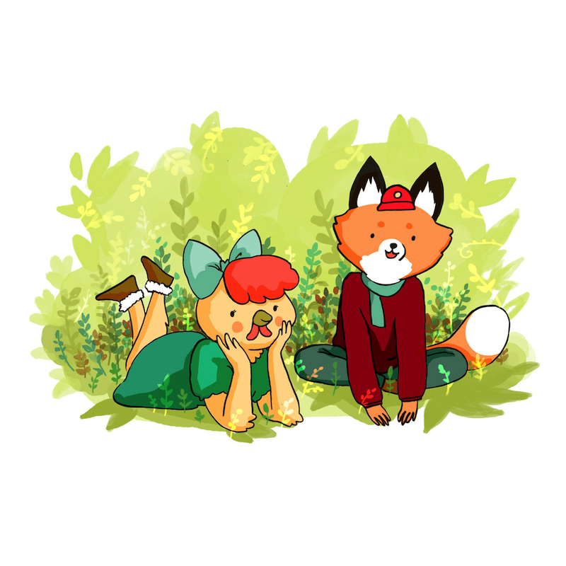 Couple Foxes